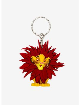 Loungefly The Lion King Leaf Mane Simba Key Chain by Hot Topic