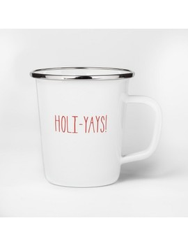16oz Enamel Holi Yays! Mug White   Project 62™ by Project 62