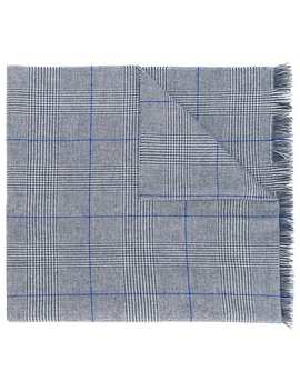 Check Knit Scarf by Hackett