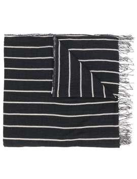 Striped Fringed Scarf by Uma Wang