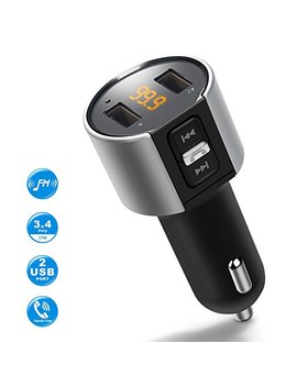 Bluetooth Fm Transmitter For Car, Wireless Bluetooth Fm Radio Adapter Car Kit With Hands Free Calling And 2 Ports Usb Charger 5 V/2.4 A&1 A. by Imden