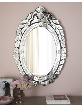 Ernhart Oval Venetian Style Mirror by Neiman Marcus