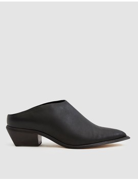 Mirage Leather Mule In Black by Wal & Pai