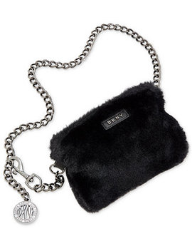 Faux Fur Chain Fanny Pack, Created For Macy's by Dkny