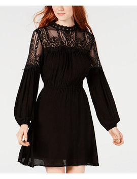 Juniors' Illusion Lace Peasant Dress, Created For Macy's by American Rag