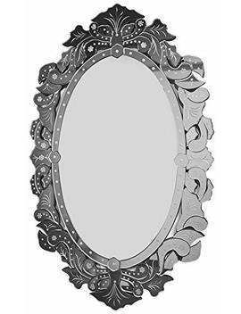 "Venetian Mirrors | Elegant Wall Mirrors | Bedroom Mirror For Wall Decor 27.5"" X 43.3"" by Mx.Home"