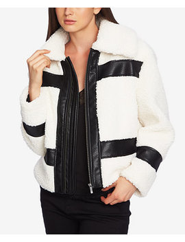 1. State Faux Shearling Bomber Jacket by 1.State