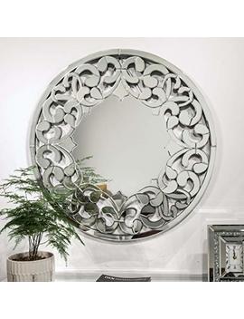 Wall Mirror Round Sunburst Wooden Mirror Bathroom Home Vanity Mirror 31.531.5 Inch by Mx.Home