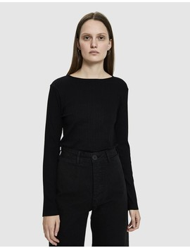 Yon Rib Crop Top In Black by Which We Want