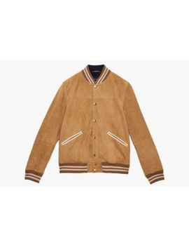 Gant Baltimore Suede Leather Bomber Varsity Jacket Tan Small John Elliott by Gant