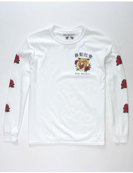 Riot Society Tiger Roses Boys T Shirt by Riot Society