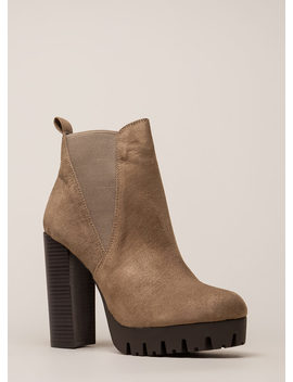New Adventure Chunky Platform Booties by Go Jane