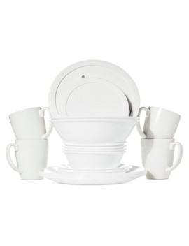 Corelle® Livingware™ 24pc Dinnerware Set Winter Frost White by Corelle