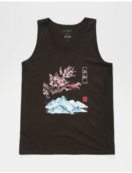 La Familia Fuji Sunset Mens Tank Top by La Familia