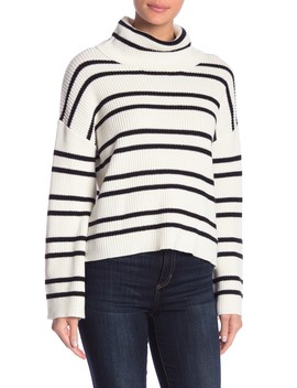 Slouchy Neck Striped Sweater by Abound