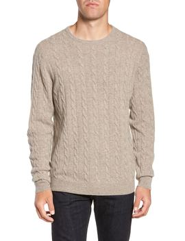 Cashmere Cable Knit Sweater by Nordstrom Men's Shop