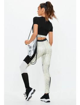 Active Black Snake Colorblock Leggings by Missguided