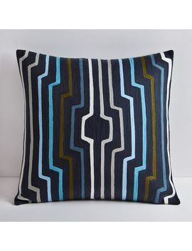 Crewel Geo Ripple Pillow Cover by West Elm