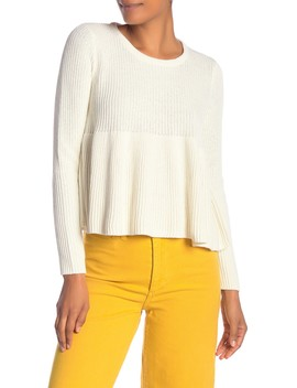 Ribbed Swing Pullover Sweater by Madewell