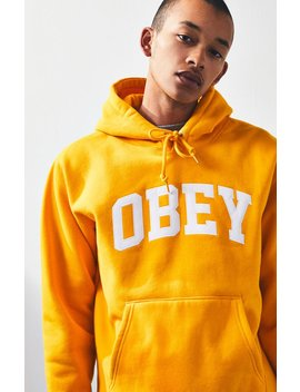 Obey Collegiate Applique Hoodie by Pacsun