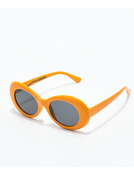 Petals & Peacocks Nevermind Orange Sunglasses by Petals And Peacocks