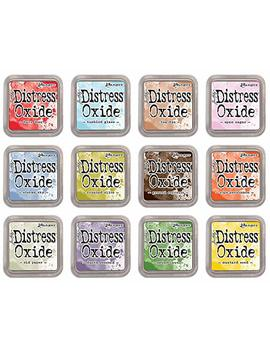 Ranger Tim Holtz Bundle Of 12 Distress Oxide Ink Pads   Summer 2018 Colors by Tim Holtz Ranger Ink