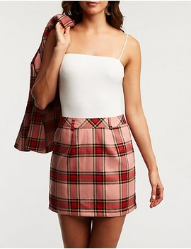 Plaid A Line Skirt by Charlotte Russe