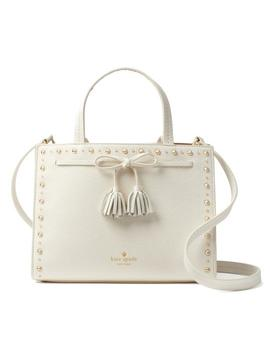 New York Hayes Street Studded Sam Cement Leather Satchel by Kate Spade