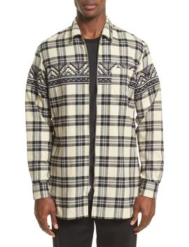 Vip Elongated Zip Flannel Shirt by 3.1 Phillip Lim