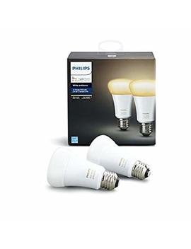 Philips Hue White Ambiance 2 Pack A19 60 W Equivalent Dimmable Led Smart Light Bulbs, 2 Smart Bulbs, Works With Alexa, Apple Homekit, And Google Assistant, (California Residents) by Philips Hue