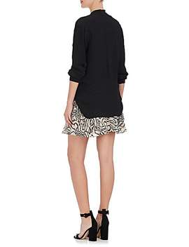 Mariposa Twist Silk Georgette Blouse by L'agence