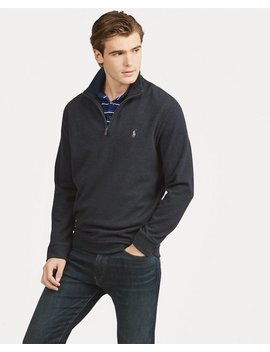 Double Knitted Half Zip Pullover by Ralph Lauren