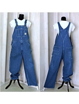 Vintage Carhartt Overalls 38 X 30 L Xl  Denim Bib Overalls / Utility / Streetwear / Workwear / Grunge / Made In Usa by Etsy