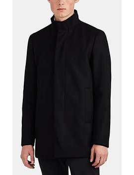 Christopher Wool Blend Melton Coat by Theory