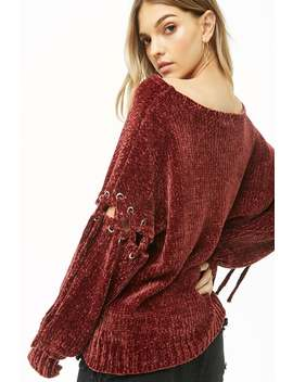 Mina Lisa Chenille Sweater by Forever 21