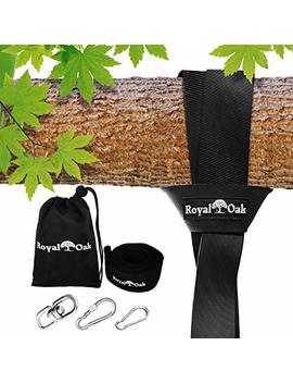Easy Hang (8 Ft) Tree Swing Strap X1   Holds 2200lbs.   Heavy Duty Carabiner   Bonus Spinner   Perfect For Tire And Saucer Swings   100 Percents Waterproof   Easy Picture Instructions   Carry Bag Included! by Royal Oak