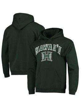 Fanatics Branded Hawaii Warriors Campus Pullover Hoodie   Green by Fanatics Branded