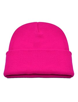 Pzle Winter Hat Pink Beanie Hat Winter Rose Hat Men Winter Hat Beanie Caps Rose,One Size by Pzle
