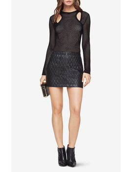 Mercy Cutout Mesh Top by Bcbgmaxazria