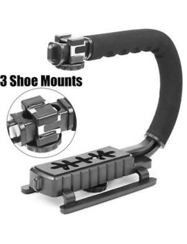 Camera Stabilizer Handle Grip Triple 3 Shoe Mount Camcorder Stabilizer Scorpion by Chrom Lives