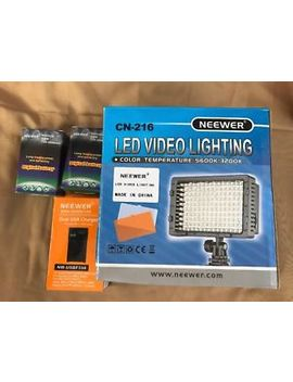 Neewer Cn 216 Dimmable Led Video Light With Battery And Charger Kit F550 by Neewer