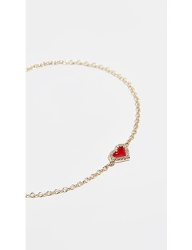 14k Diamond Heart Bracelet by Alison Lou