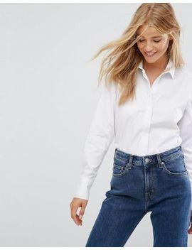 New Look – Langärmliges, Weißes Hemd by Asos