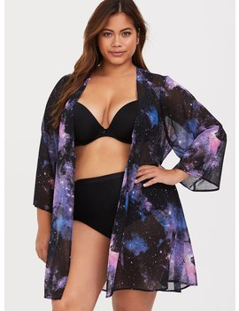 Galaxy Print Chiffon Robe by Torrid