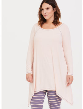 Pink Slouchy Lounge Tunic by Torrid