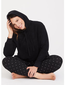 Black Crop Lounge Hoodie by Torrid