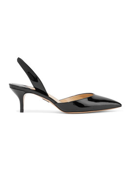 Rhea Patent Leather Slingback Pumps by Paul Andrew