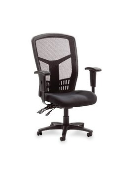 "Lorell Executive High Back Chair,Mesh Fabric,28 1/2""X28 1/2""X45,Bk by Amazon"