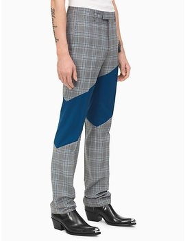 Bedford Check Striped Straight Leg Pants by Calvin Klein