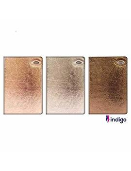 Indigo 2019 A5 Week To View Soft Pvc Feel Diary  Gold Silver Bronze Leaf Antique With Free Bookmark Random Colour Sent by Indigo